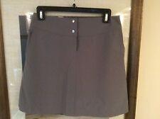 New Women's Annika Cutter & Buck DryTec Solid Gray Golf Skort Size 0 $88.00 NWOT