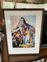The Rolling Stones European Tour 1976 Concert Signed Lithograph Limited To 5,000