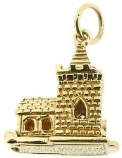 Gold charms 9Carat 9ct yellow Bride and Groom church hinged opening wedding day