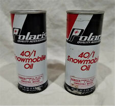 New Listing(2) Cans/Pints Polaris/Textron Vintage 40/1 Snowmobile Oil-Full/Old Cans-Nos