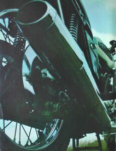 A Magazine Mini Poster - A4 Size (21cm x 30cm) Triumph Tiger Motorcycle Rear