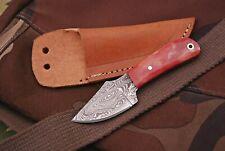 Damast Mini Messer, sehr schönes Hand geschmiedetes Messer 4326