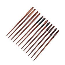 6x Handmade Japanese Natural Chestnut Wood Chopsticks Set Value Gift Hot Sale