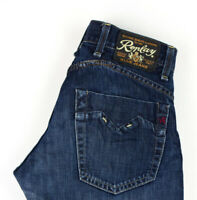 Replay Hommes Skar Droit Slim Jean Taille W30 L32 AGZ146