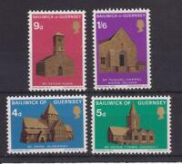 GUERNSEY 1970  CHRISTMAS CHURCHES STAMP SET MNH SG 40-43