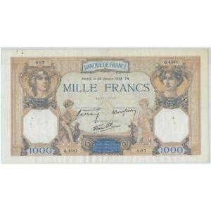 FRANCE 1000 FRANCS CERES ET MERCURE 20 OCTOBRE 1938 Q.4561 TTB/TTB+