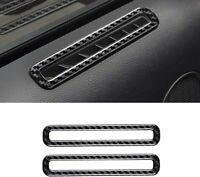 2PC Black BLAKAYA Compatible with Sticker Carbon Fiber Air Conditioner Door Vent Outlet Trim Cover Accessories for Ford Mustang 2015 2016 2017 2018 2019 2020