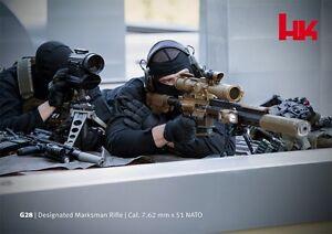 Heckler Koch HK G28 SNIPER Rifle Team Shooting POSTER HK417 556 762 P7 PV9 SOCOM