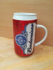 Budweiser lager ceramic beer can mug rare vintage good condition please refer to