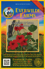 25 Empress of India Nasturtium Wildflower Seeds - Everwilde Farms Mylar Packet