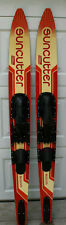 """Set Of Coleman Suncutter Water Skis Pair Slalom 170 cm -  67"""" USA Made"""
