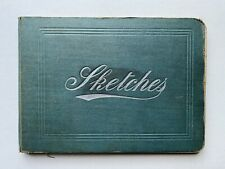 More details for charming edwardian drawing sketch book hardback pencil ink drawings music hall