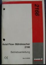Case moissonneuses-batteuses axial flow 2166 Manuel