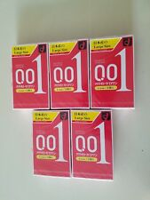 Okamoto Zero One 0.01 Condoms☆Large size☆Set of 5 boxes