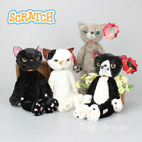 New Tamino Maita Scratch Angry Cat Plush Toy Soft Stuffed Animal Doll 16'' Gift