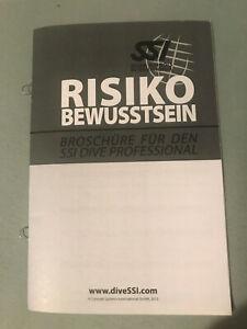 SSI Logbuch, Einlagen, Refill, Broschüre Risikobewußtsein, für Dive Professial