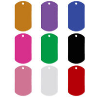 100pcs/lot Wholesale Militry Dog ID Tags Blank Aluminum No Engraving Tag for Pet