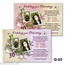 10 St. Invitation Cards, Photo Cards Birthday, Anniversary with photos + Envelope