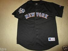New York Mets 2000 World Series Russell Athletic Black MLB Jersey LG L VINTAGE