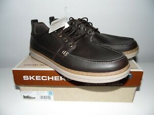 SKECHERS  Mens Heston-Sendo Moccasins leather shoes Walking Memory Foam UK 12