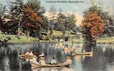 Richmond Indiana Glen Miller Row Boat Scene Antique Postcard K83326