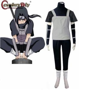 Anime N arut0 Shippuden Uchiha Itachi Anbu Ninja Uniform Cosplay Costume