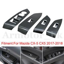 For Mazda CX5 2017 2018 Titanium Inner Window Switch Panel Cover Trim 4Pcs/Kit