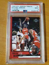 1999 Upper Deck Jordan Tribute 11/30/84 Michael Jordan Card #1 PSA 9 Mint