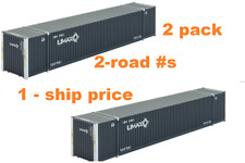 MTL MICRO-TRAINS N   469 00 081 & 082 ( 2 PK )* UMAX *53' CONTAINERS, 2-RD #s