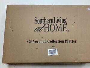 "Southern Living At Home Gail Pittman 18"" Veranda Floral Serving Platter"