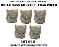 MOLLE ACU RIFLEMAN GRENADE FRAG POUCH US MILITARY ARMY ACU DIGITAL CAMO LOT of 5