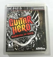 Guitar Hero Warriors of Rock PlayStation 3 2010 Complete with Manual