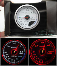 60mm Turbo BOOST Gauge Red/White *kap Skyline WRX EVO MPS Ford BF CR Diesel 4WD*