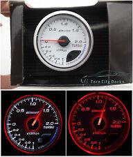 60mm Turbo BOOST Gauge Red/White *kap Skyline WRX EVO MPS Ford BF CR Diesel 4WD*