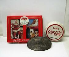 Vintage Coca-Cola Set Of Christmas Playing Cards, Belt Buckel And Cap Coin Bank