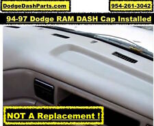 Dodge RAM Plastic Molded DASH Cap Overlay  Fits 94-97 P/U Presideo Color