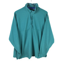 Patagonia Womens Fleece Snap Button Pullover Jacket Top XL Green Long Sleeve
