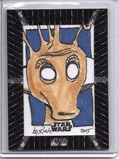 2015 Star Wars Tek  GREEDO PATTERN VARIATION SKETCH CARD 1/1 BY BRUCE GERLACH!