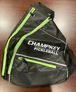 Brand New Pickleball Performance Sling Bag Champkey Black Green