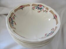 Wedgwood china Trellis Flower England lot 6 coupe bowls cereal soup