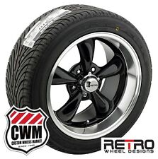 "17 inch Staggered 17x7 17x9"" Black Wheels Rims Tires for Chevy S10 2wd 82-05"