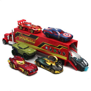 7PCS The Avengers Marvel Heroes Style Truck & Car Model Gift Toy Vehicle Kids