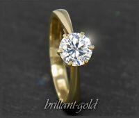 Diamant Brillant Damen Ring aus 585 Gold, 1,04ct, Top Wesselton F; für Verlobung