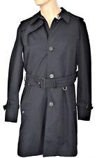 Gabardina chaqueta Aquascutum London hombre Corby SB impermeable Negro-xx