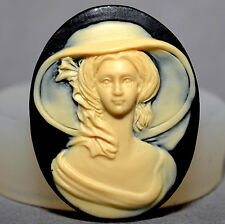 Stampo IN SILICONE CAMEO LADY resina, fimo, fimo Cupcake Stampo Southern Belle
