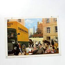 Ancienne grande affiche scolaire Fernand Nathan 1967 - vie quotidienne n°21 -