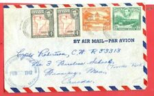 British Guiana 4c MAP Pair + used on cover to USA 1942