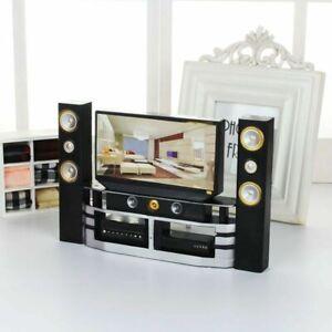 Hi-Fi TV Cabinet Combo Set for Blythe Barbie Doll Living Room House Furniture