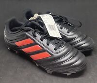 Adidas ~ Copa 19.4 FG J Kids Youth Soccer Cleats Black/Red ~ Size 4.5 F35460 New
