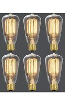 Globe Electric (5Pack) 60W Incandescent S60 Vintage Squirrel Cage Light Bulbs